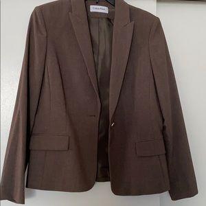 Calvin Klein light brown blazer